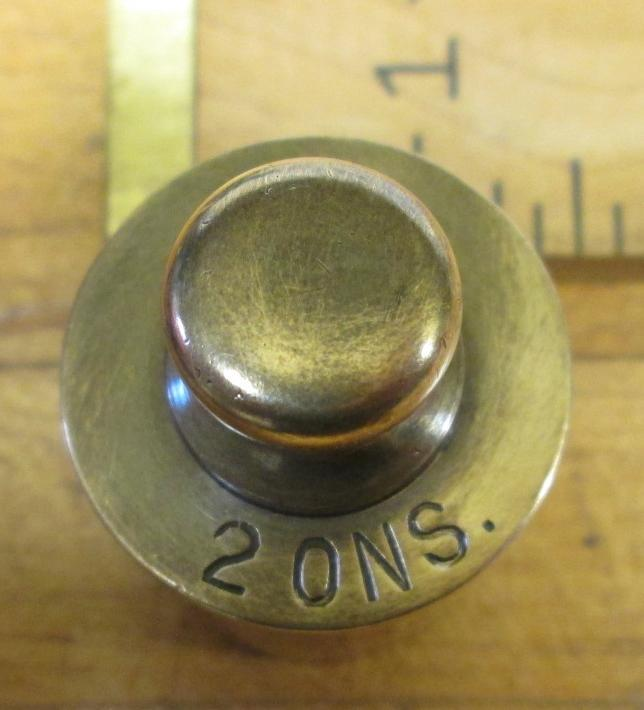 C Schlieper Scale Weight Brass 2 ons