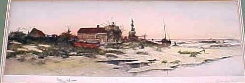 Oystermans Home Color Print Dtd 1891 Antique