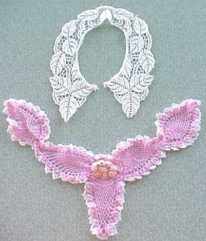 Vintage Lace Collars Crochet Lace 2PC