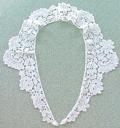 Antique Lace Collar Ladies Floral