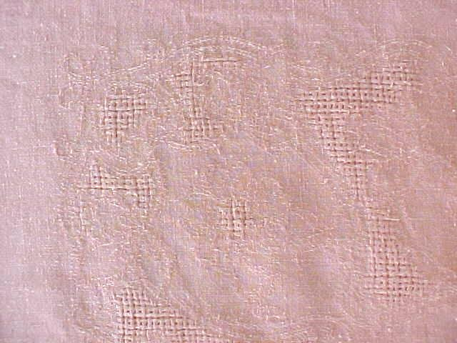 Peach Linen Tablecloth 56 x 75 Vintage