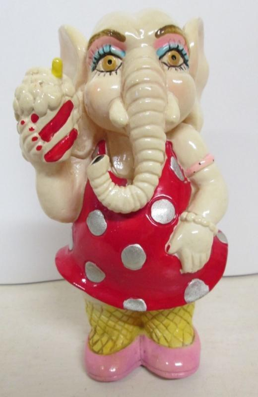 Elephant Bank Red Polka Dot Dress