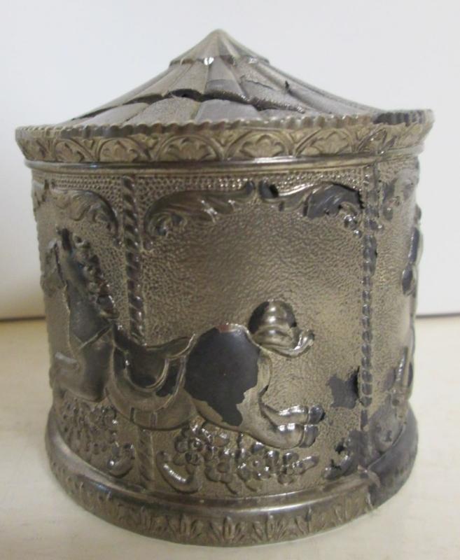 Antique Carousel Bank Metal