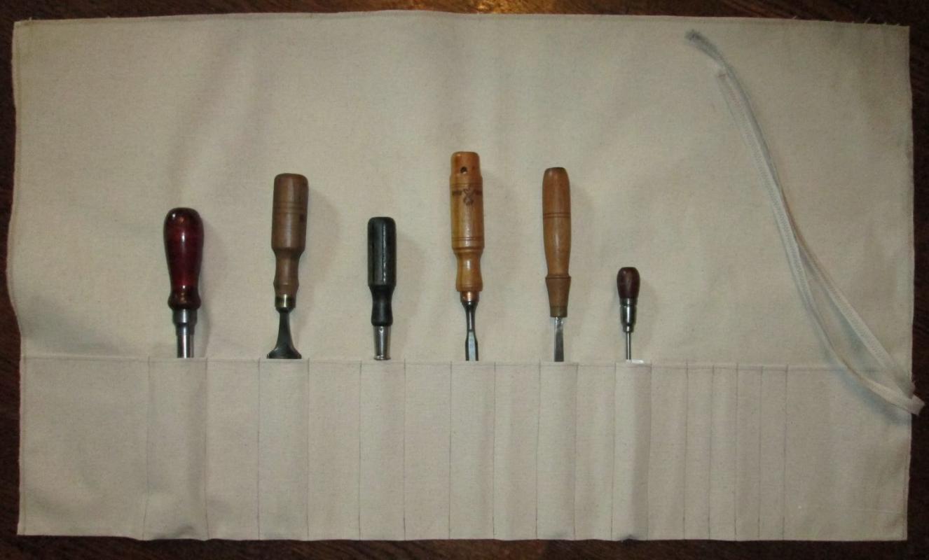 Tool Roll Canvas Heavy Duty 18 Pockets 36 inch