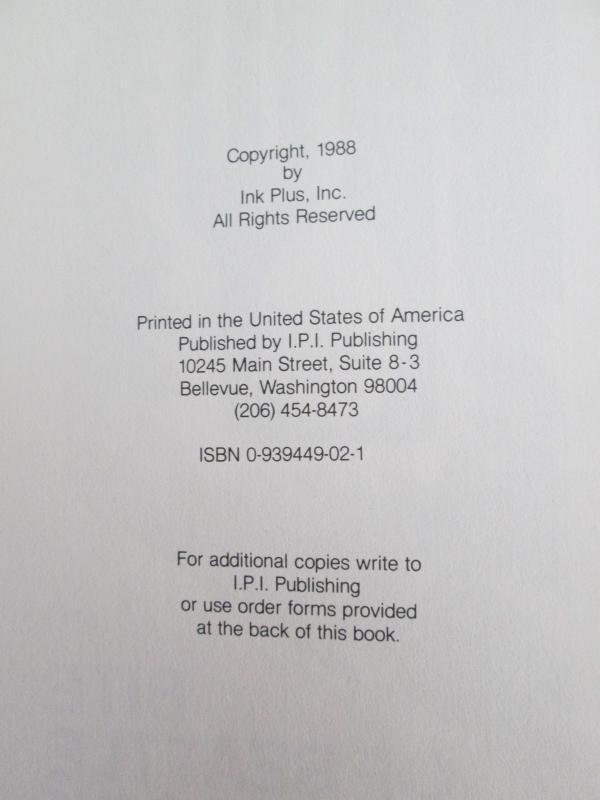BITE OF SEATTLE COOKBOOK VOL. 3  1988