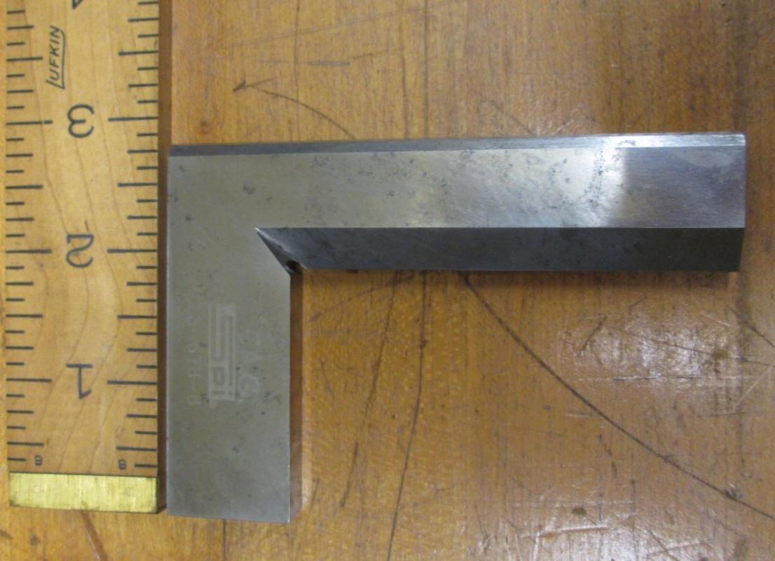 SPI Solid Square Beveled Edge 4 inch Blade