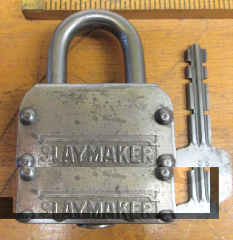 Slaymaker Padlock Laminated Rare Patented No. 25