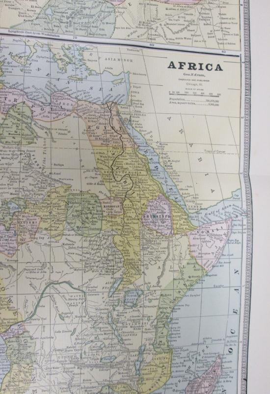 Map Africa Large Fold Out Crams 1883 South Africa