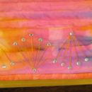 Art Quilt Abstract Martian Sunset Rhinestones