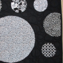 Quilt Circles Abstract Art Black White Wall Hanging