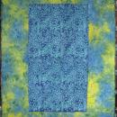 Quilt Throw Batiks Beach Ocean Blues Yellows