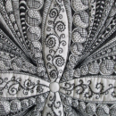 Zentangle Wall Hanging Quilted Feathers Ornate Art
