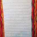 Modern Quilt Full 80.5x88 White Oranges Black Striking