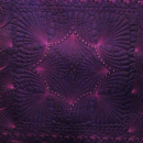 Wholecloth Art Quilt Wall Hanging Crystals Arwen OOAK