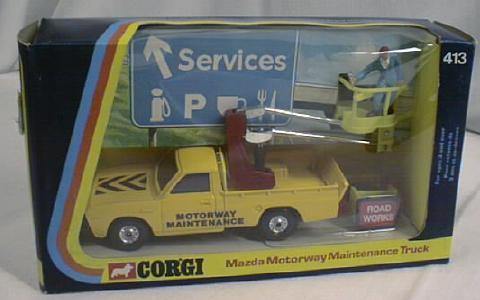 Corgi Mazda Maintenance Truck MIB  No. 413