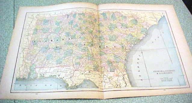 Map Alabama Georgia South Carolina 1894 Lg Foldout on lexington georgia map, satilla river georgia map, scottsdale georgia map, abbeville georgia map, bibb county georgia map, antebellum georgia map, show counties in georgia map, ogeechee river georgia map, asheville georgia map, united states map, dover georgia map, ga rome georgia map, surrency georgia map, florida georgia map, lakemont georgia map, irwinton georgia map, northwestern georgia map, goose creek georgia map, north carolina map, evans county georgia map,