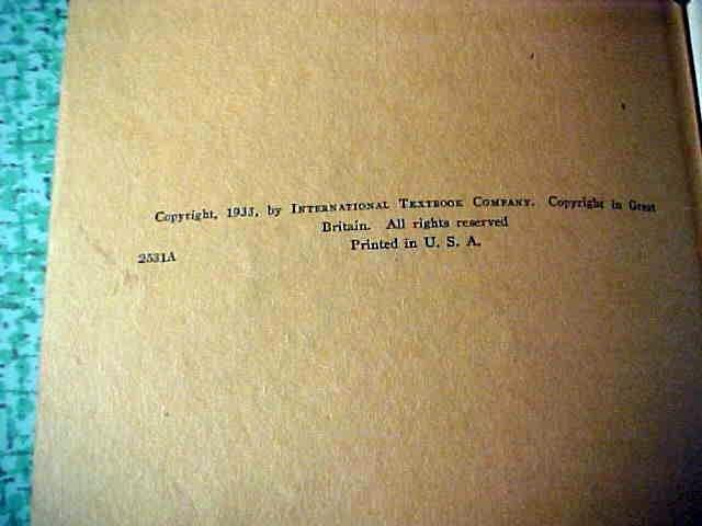 Machine Design 6 Vol International Correspondence 1933