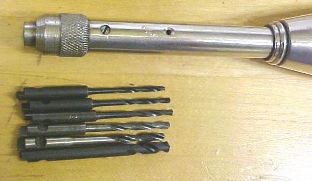 Yankee Push Drill w/6 Spiral Bits Germany