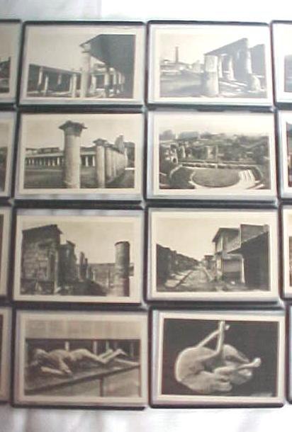 Photo Postcards Miniature Pompei Italy Vintage