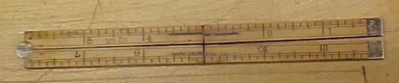 Stanley No. 69 Carpenters Rule 1 Foot 4 Fold