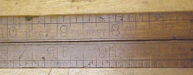 Stanley No. 61 Carpenters Rule 2 Foot 4 Fold