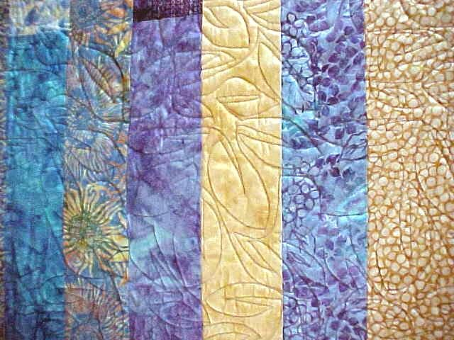 Batik Quilt Blue Aqua Pink Orange Tropical 75 x 82