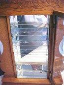 Oak Shelf Clock Show Case Case Lighted Antique