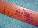 Victorian Letter Opener Bamboo Hand Painted
