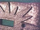 Starburst Light Switchplate Ornate Pattern  1960's