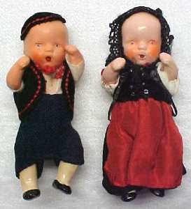 Bisque Dolls Miniature Ethnic Clothing Jointed