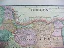 Crams Map Washington Oregon 1898 Antique