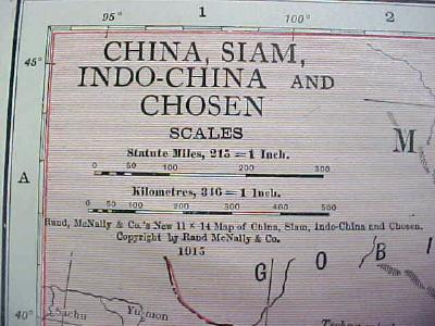 Antique Map China 1916 Nice Details & Colors