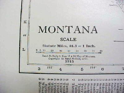 Antique Map Montana 1916 Nice Details & Colors