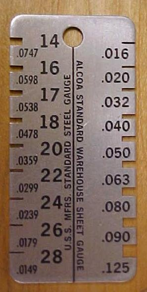 Williams & Co. Alcoa Sheet Thickness Gauge & Case