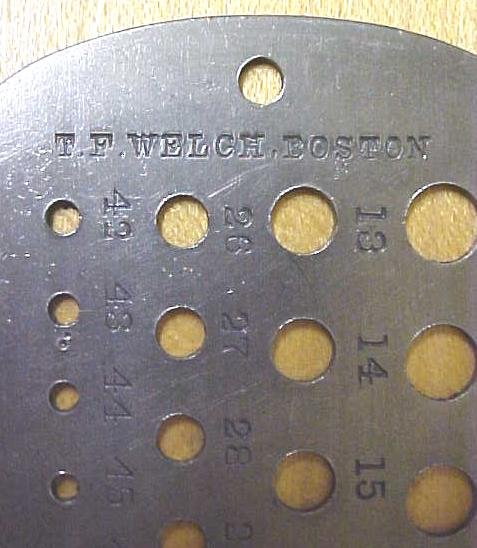 T.F. Welch Drill & Tap Drill Gage Rare!