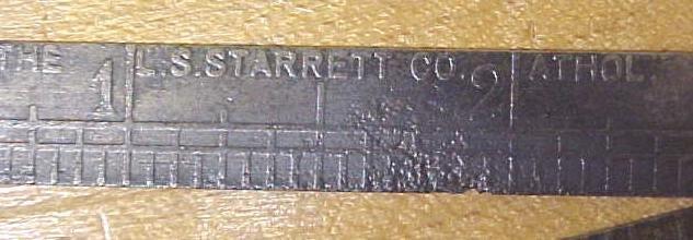Starrett Advertising Steel Folding Rule Travelers