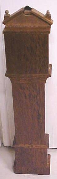 Dollhouse Grandfather Clock Wood Ornate Vintage