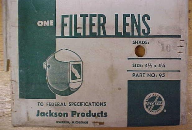 Jackson Products Welding Helmet Filter Lens