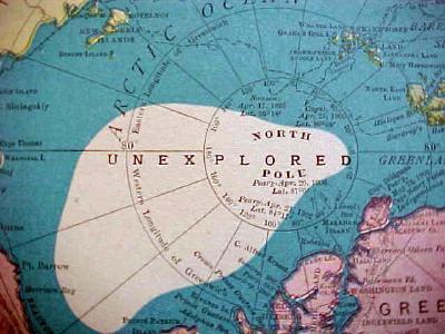 Antique Map North Pole South Pole 1909 Nice Colors