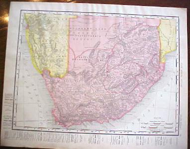 Antique Map South Africa Oceania 1909 Nice Colors