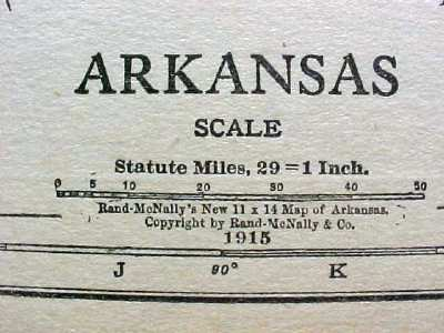Antique Map Arkansas 1915 Great Colors