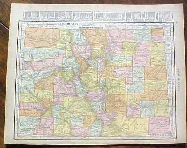 Antique Map Colorado 1915 Great Colors