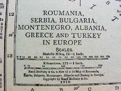 Antique Map Italy Greece Turkey Albania 1915 Great Colors
