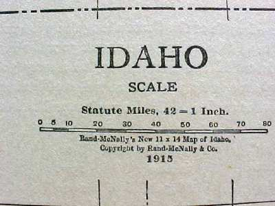 Antique Map Idaho 1915 Great Colors