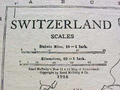 Antique Map Switzerland Denmark 1915 Great Colors