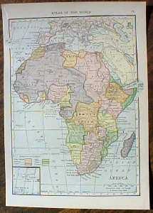 Antique Map New Hamshire 1910