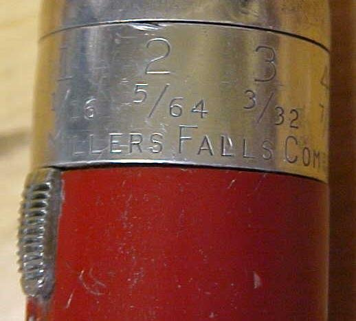Millers Falls No. 100 Yankee Push Drill w/6 Drill Points