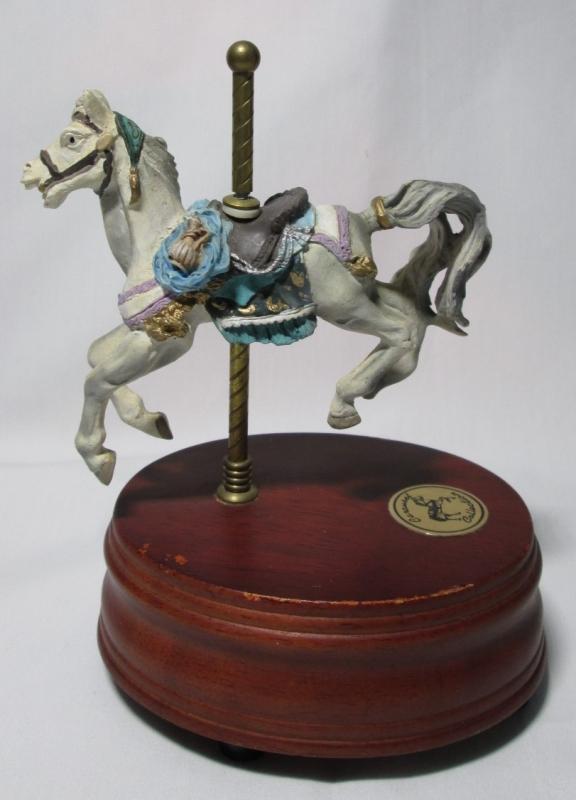 Music Box Carousel Horse