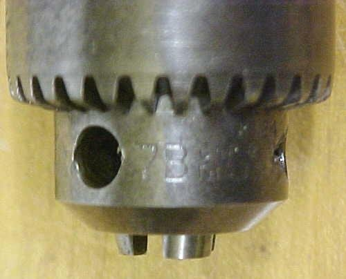 Jacobs Drill Chuck No. 7B w/ Key & Arbor  0-3/8