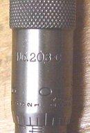 Starrett  No. 203C Micrometer 0-1 inch